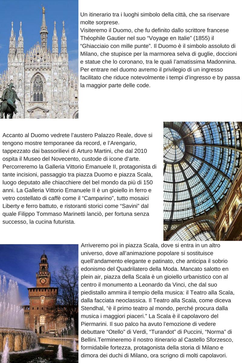 Milano iconica descrizione tour