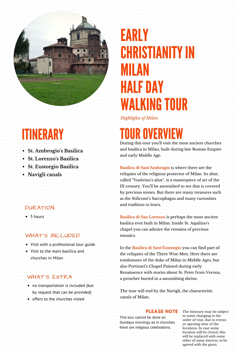 Early Christianity in Milan Half Day Tour